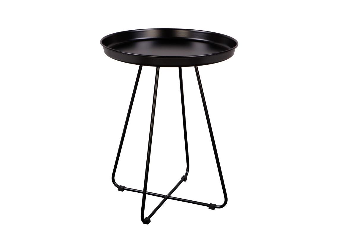 Odkládací stolek Foden, 42 cm, černá