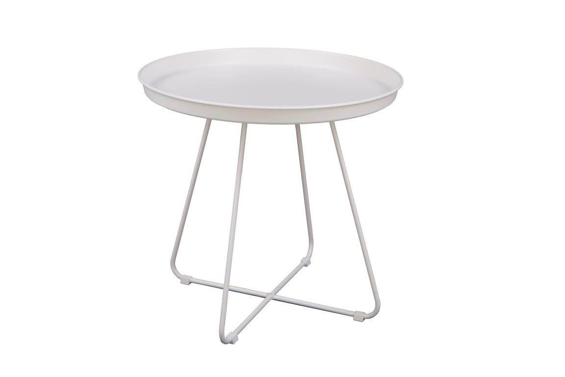 Odkládací stolek Foden, 50 cm, bílá