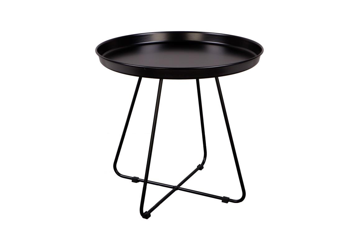Odkládací stolek Foden, 50 cm, černá