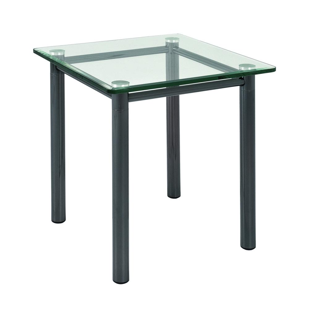 Odkládací stolek Foster, 43 cm, čirá / chrom