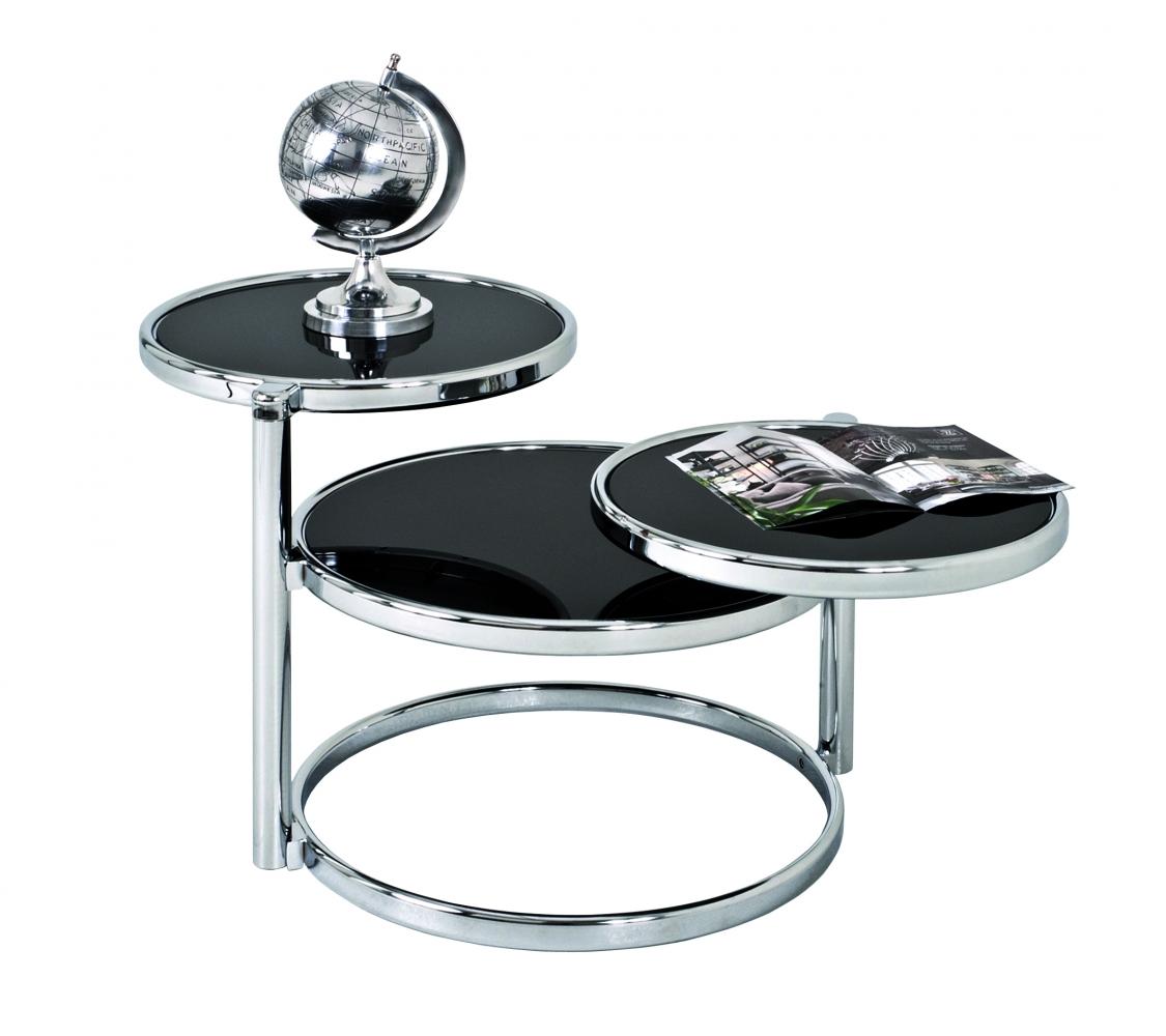Odkládací stolek Franc, 140 cm, černá