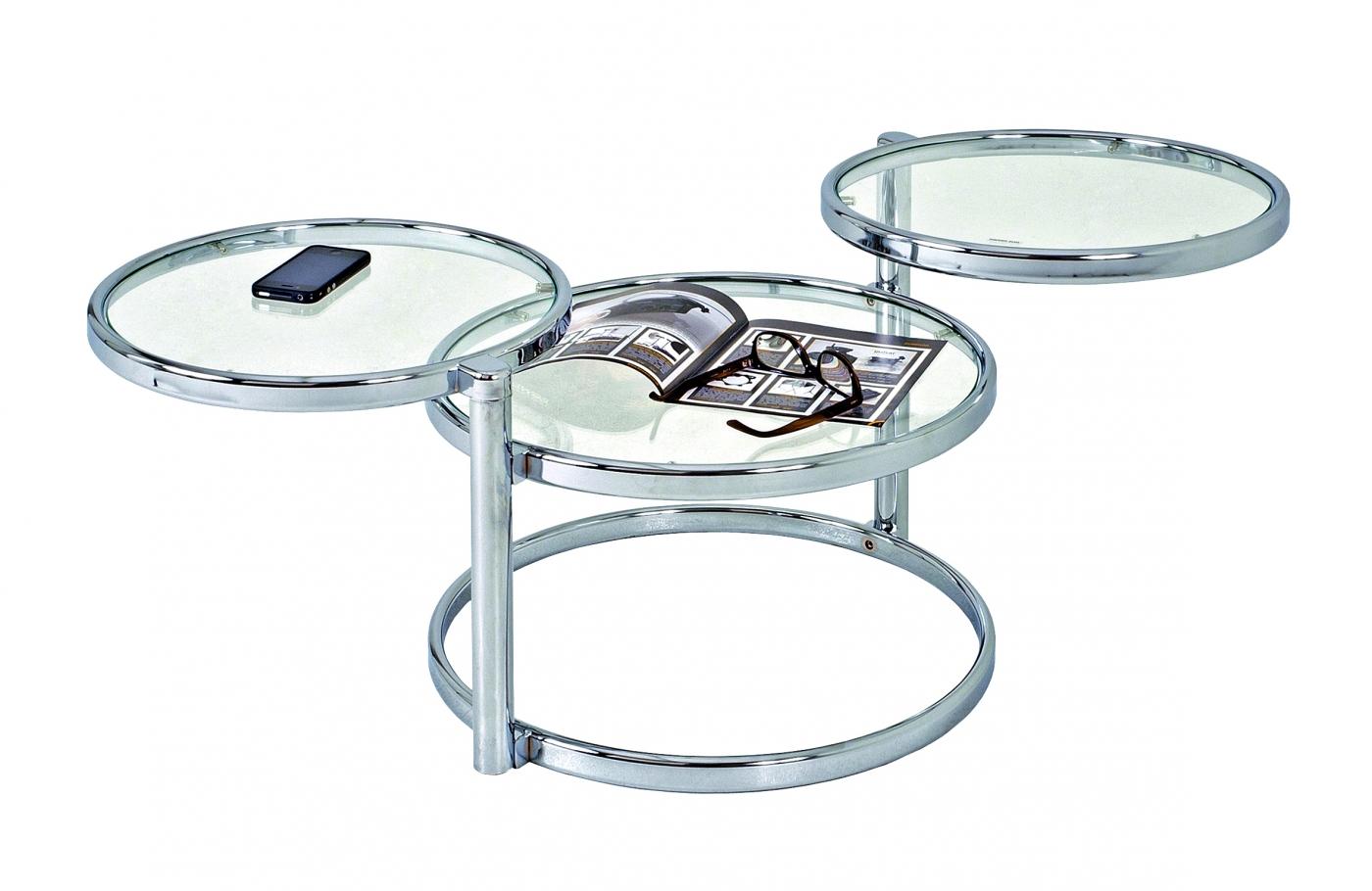 Odkládací stolek Franc, 140 cm, čirá