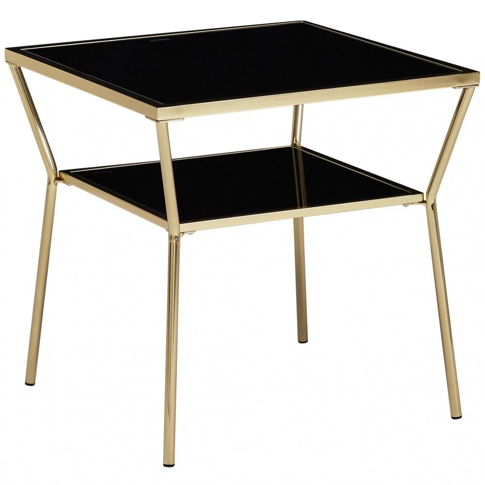 Odkládací stolek Gise, 50 cm, černá / zlatá