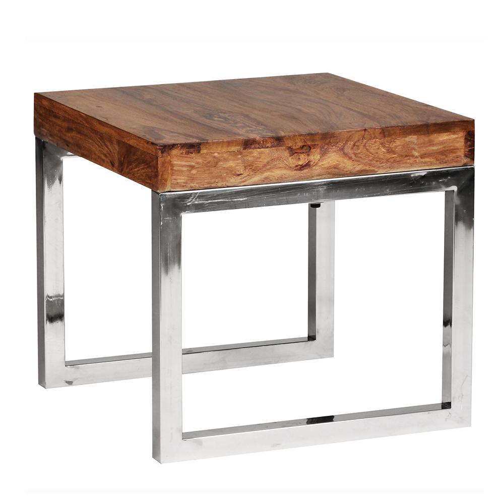 Odkládací stolek Guna, 45 cm, masiv Sheesham