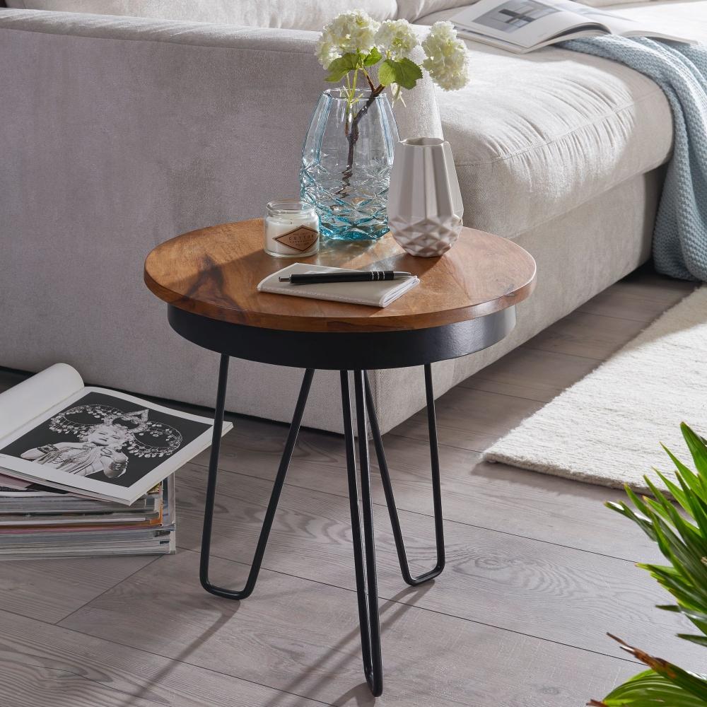 Odkládací stolek Heko, 45 cm, masiv Sheesham