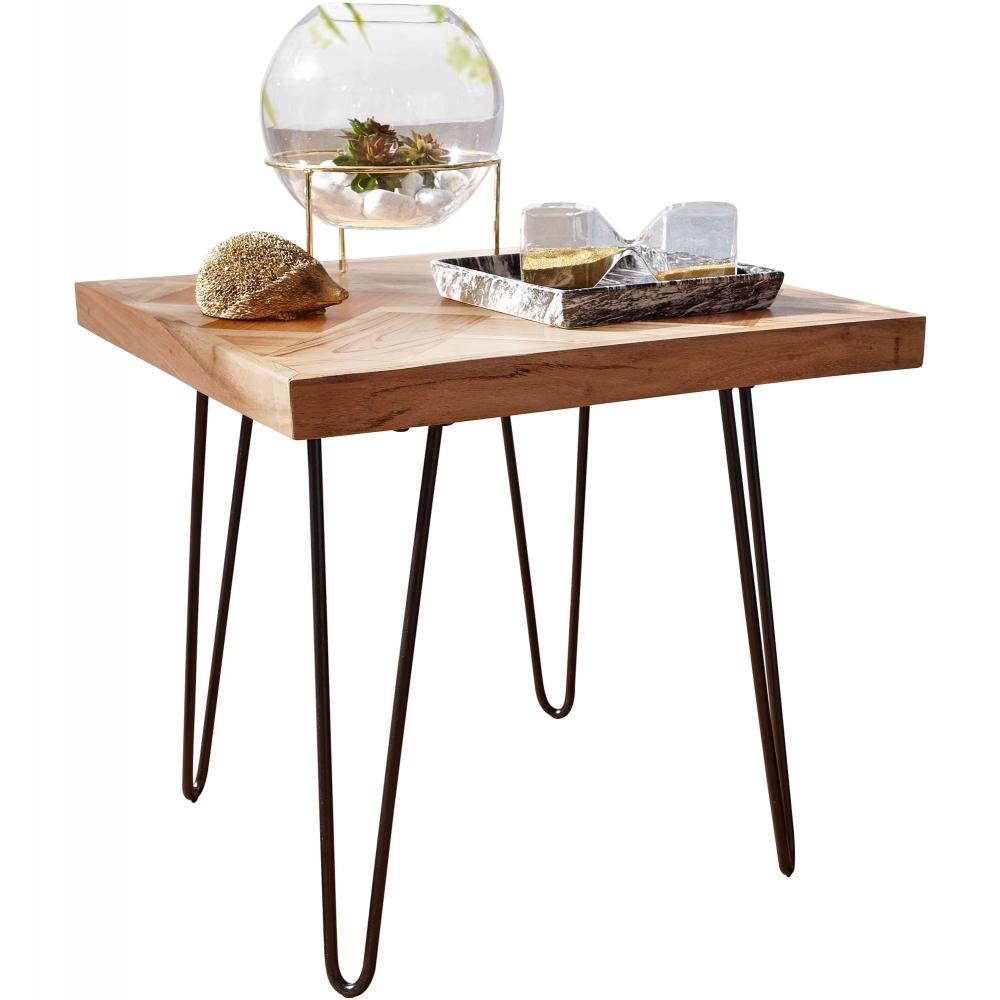 Odkládací stolek Herie, 50 cm, masiv akát