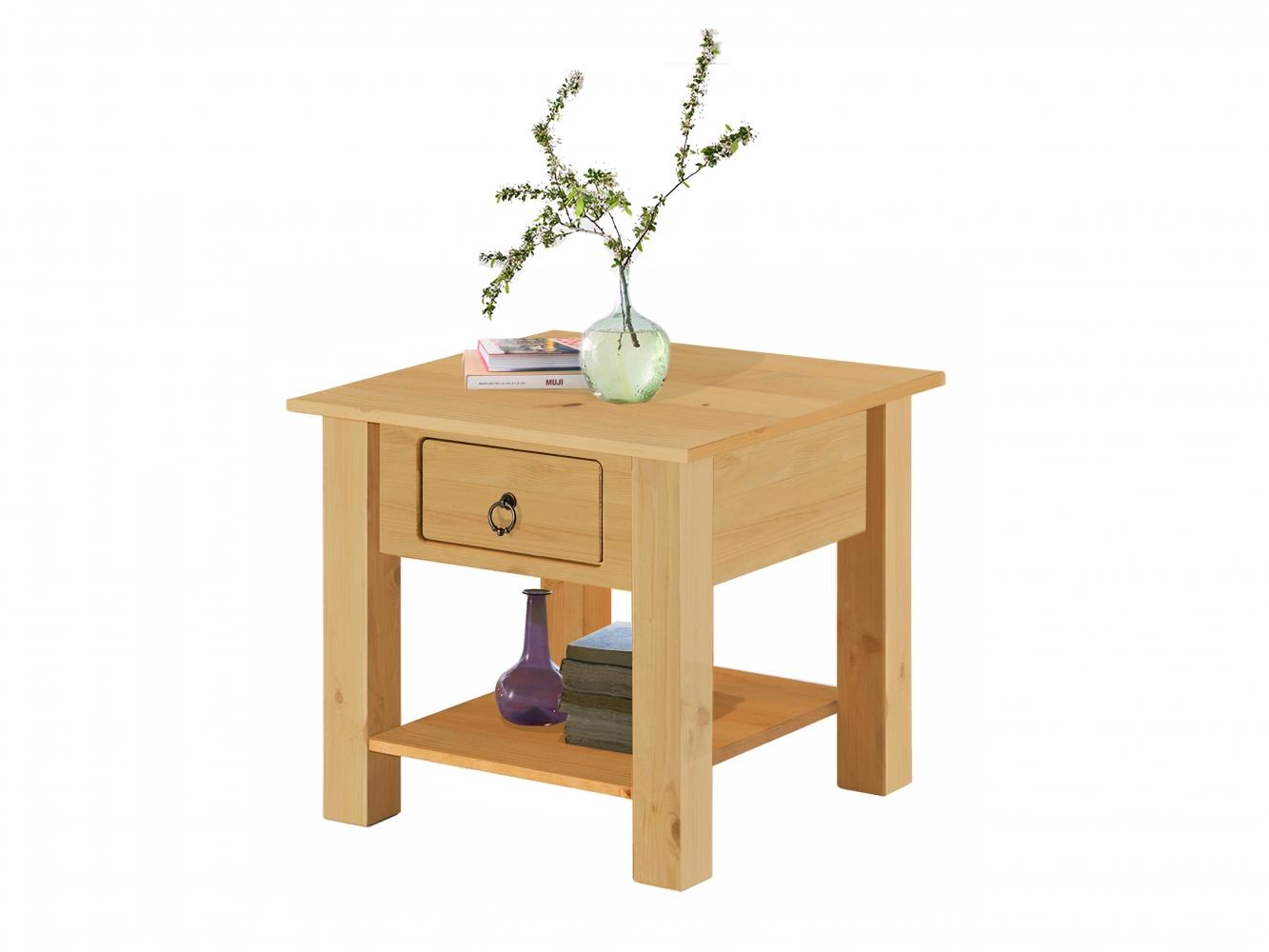 Odkládací stolek Inge, 50 cm, borovice