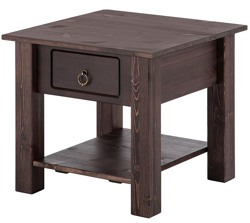 Odkládací stolek Inge, 50 cm, hnědá