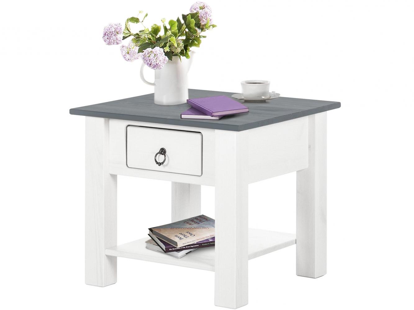 Odkládací stolek Inge, 50 cm, šedá