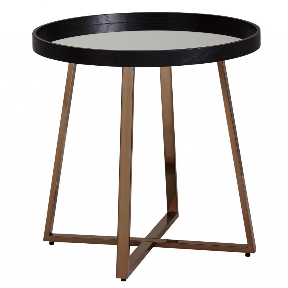 Odkládací stolek Jerry, 58 cm, černá / zlatá