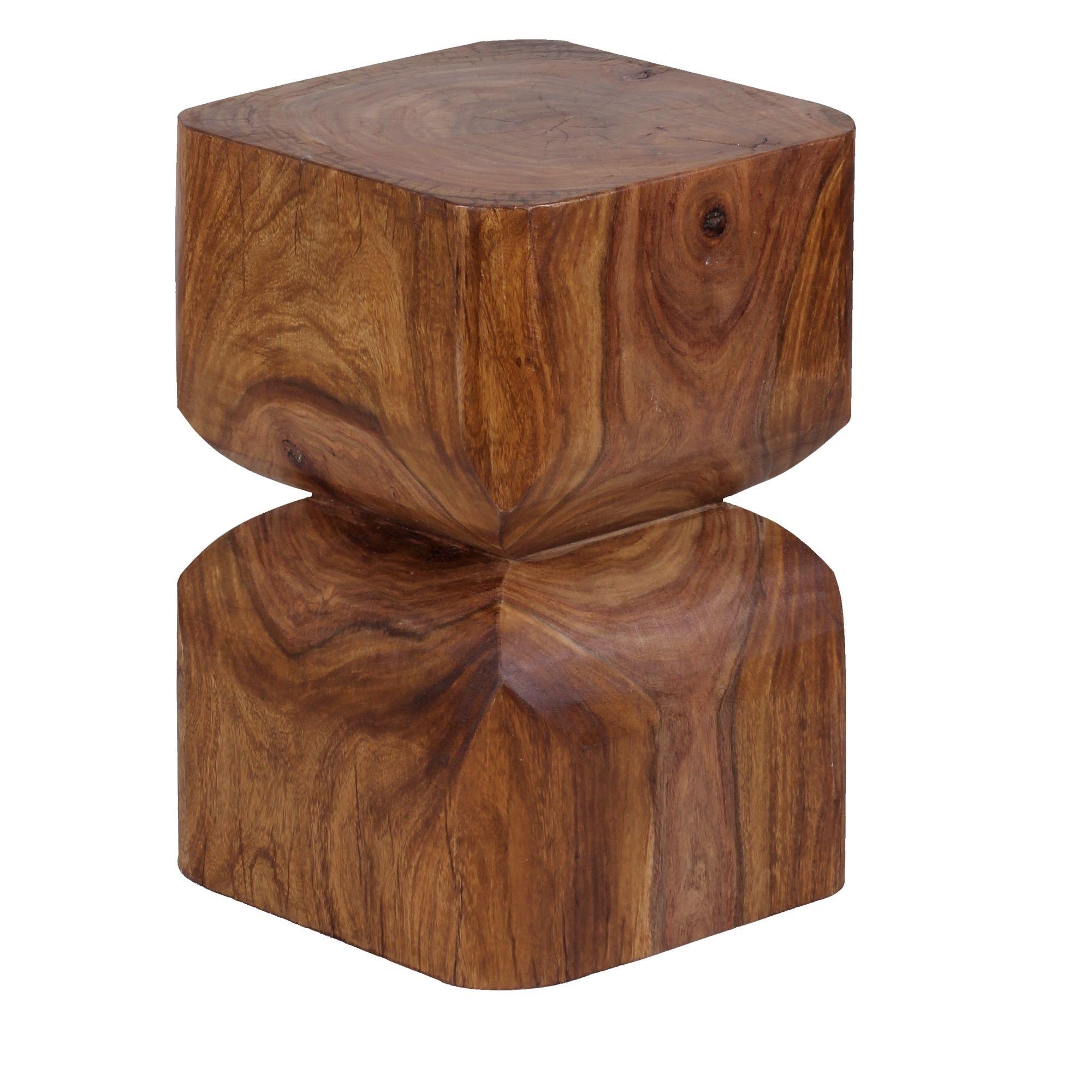 Odkládací stolek Kada, 30 cm, masiv Sheesham