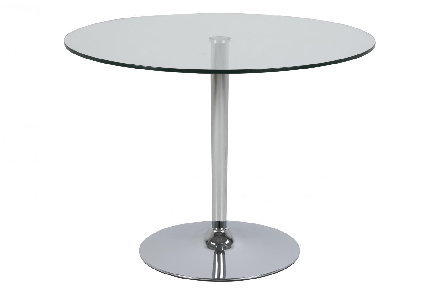 Odkládací stolek Lara, 100 cm, čirá / chrom