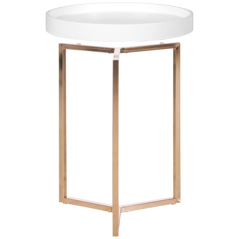 Odkládací stolek Lebron, 51 cm, bílá