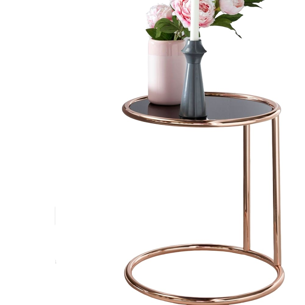 Odkládací stolek Lola, 45 cm, černá / měděná