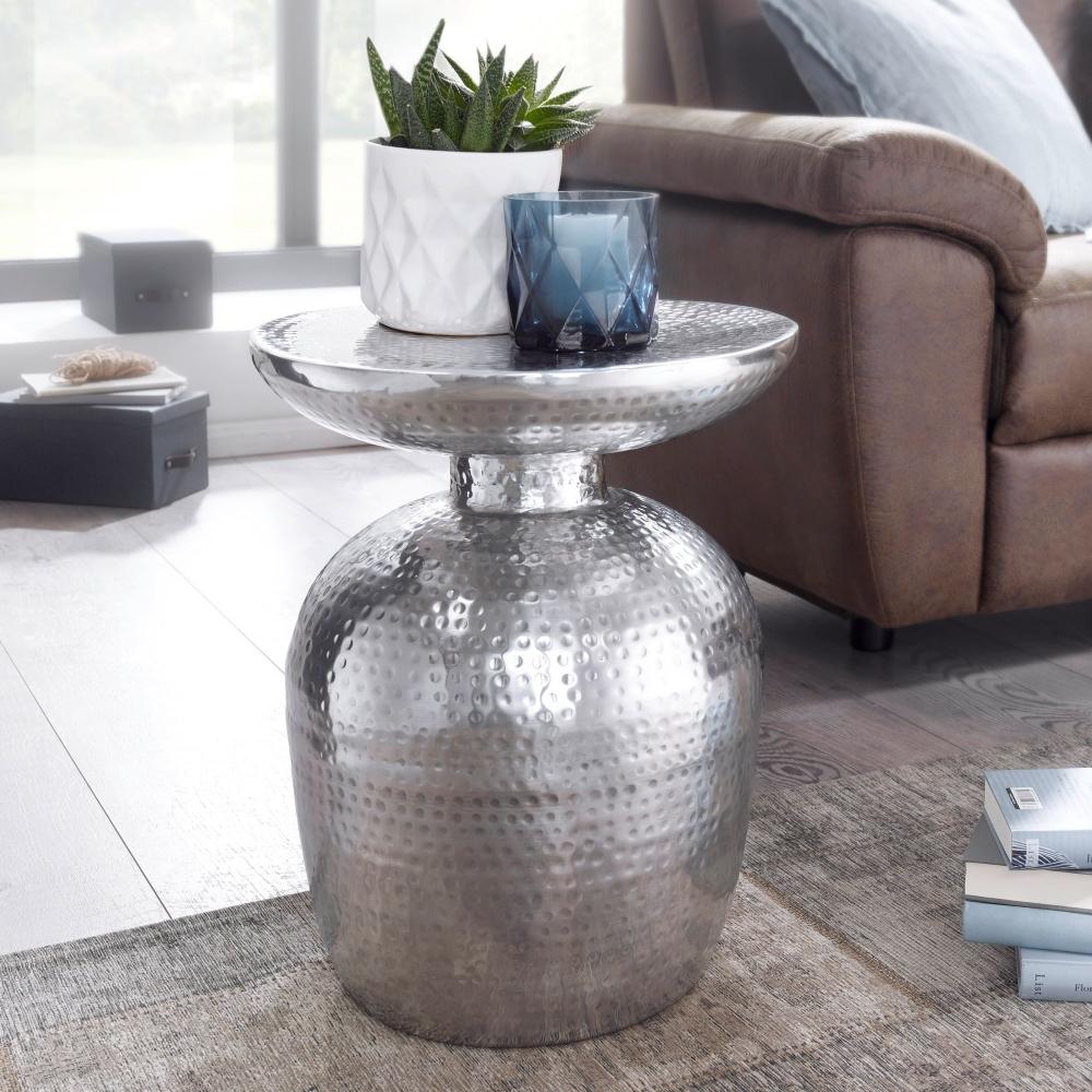 Odkládací stolek Lola, 46 cm, stříbrná