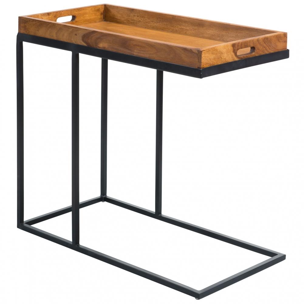 Odkládací stolek Melis, 70 cm, masiv Sheesham