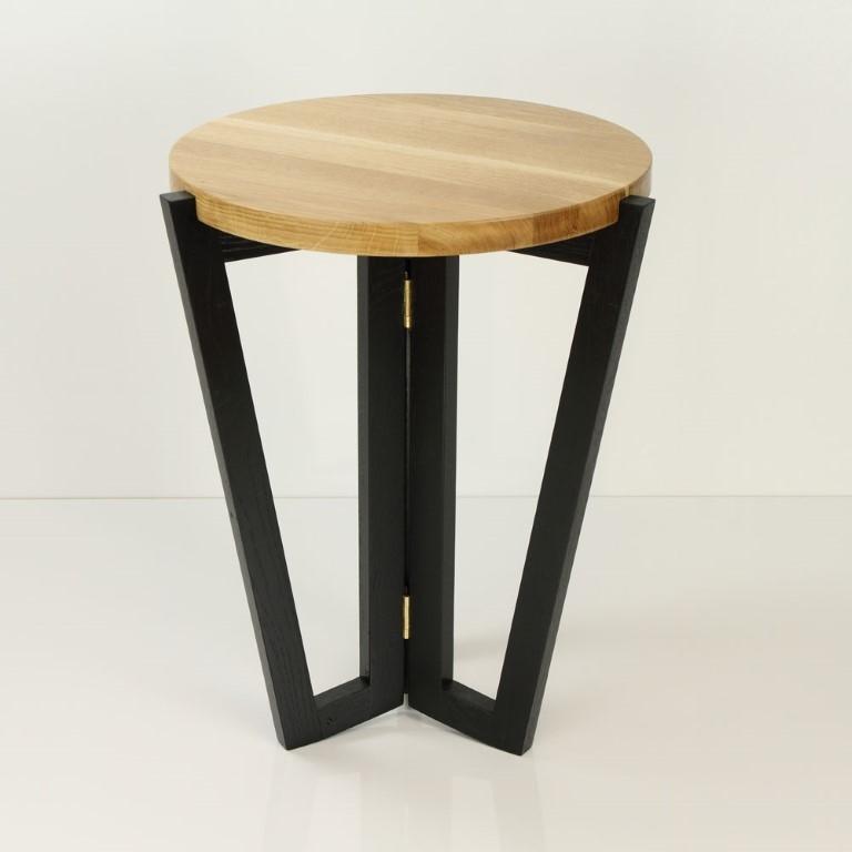 Odkládací stolek Mollen, 45 cm, černá/dub