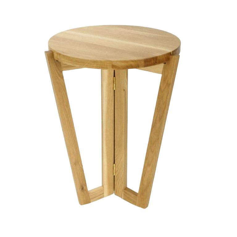 Odkládací stolek Mollen, 45 cm, dub