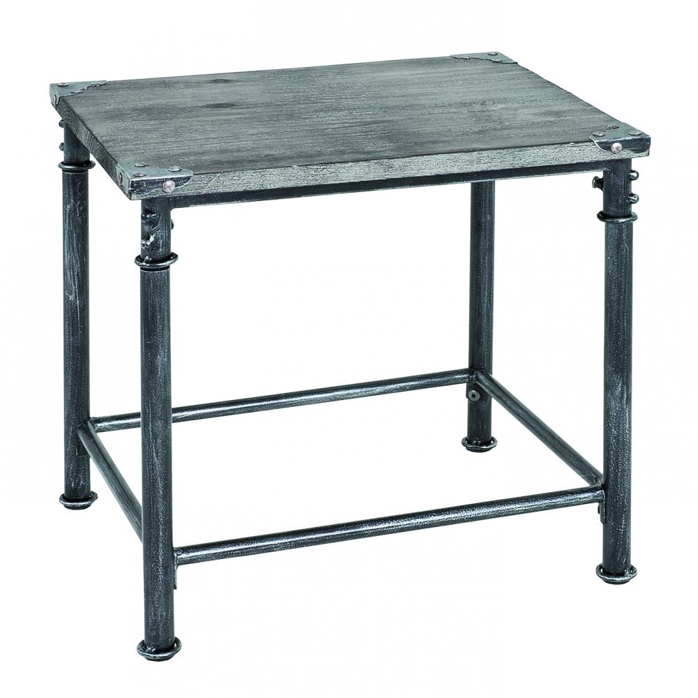 Odkládací stolek Nels, 43 cm, antická černá