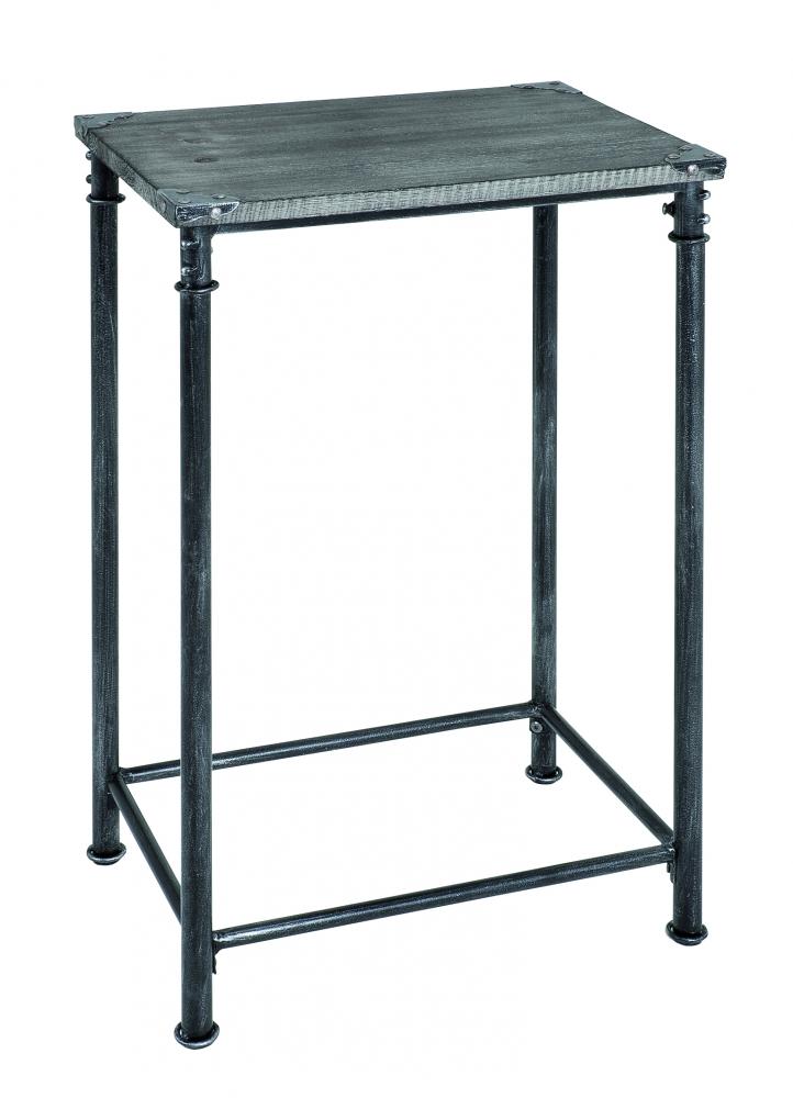 Odkládací stolek Nels, 77 cm, antická černá