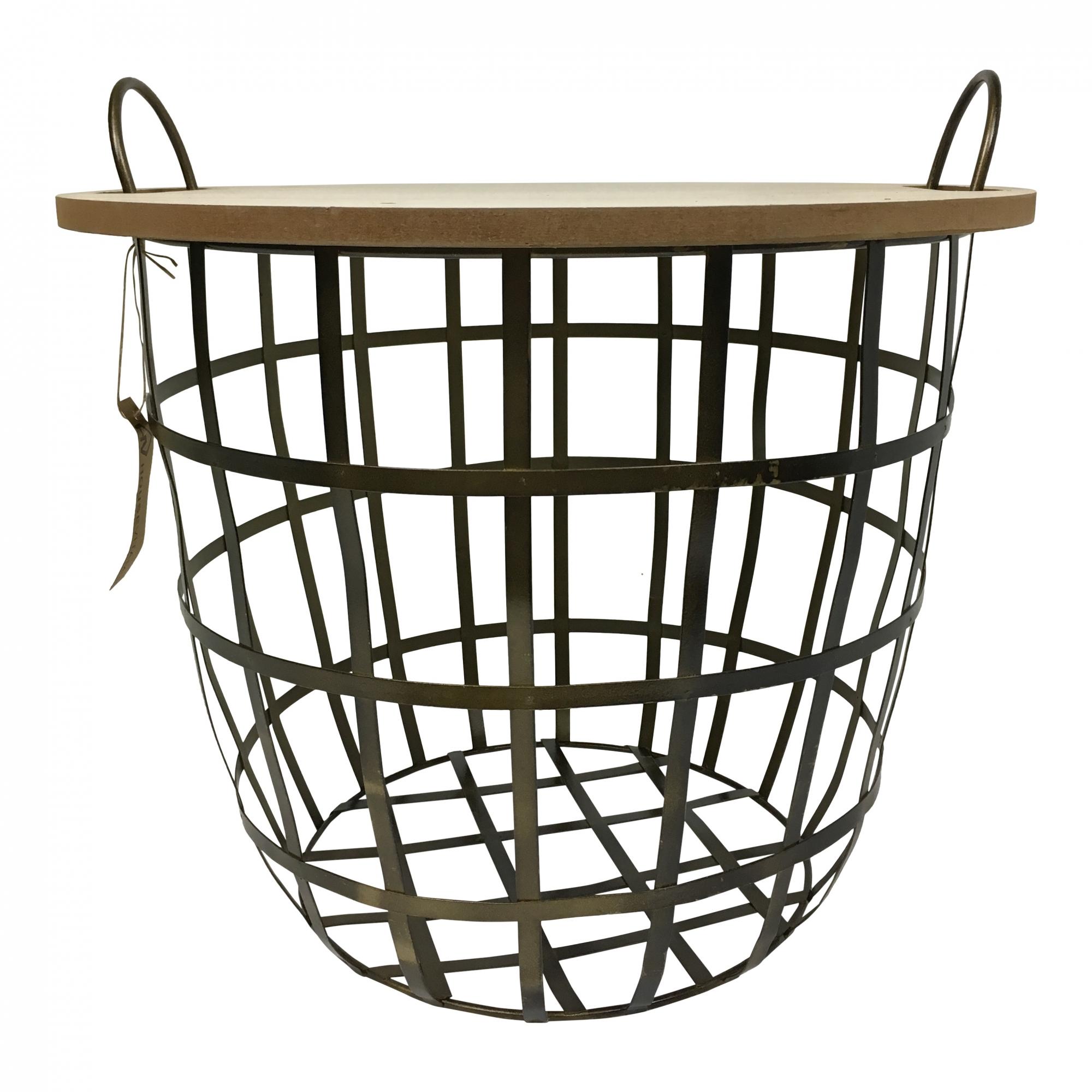 Odkládací stolek Nette, 40 cm, dřevo/černá