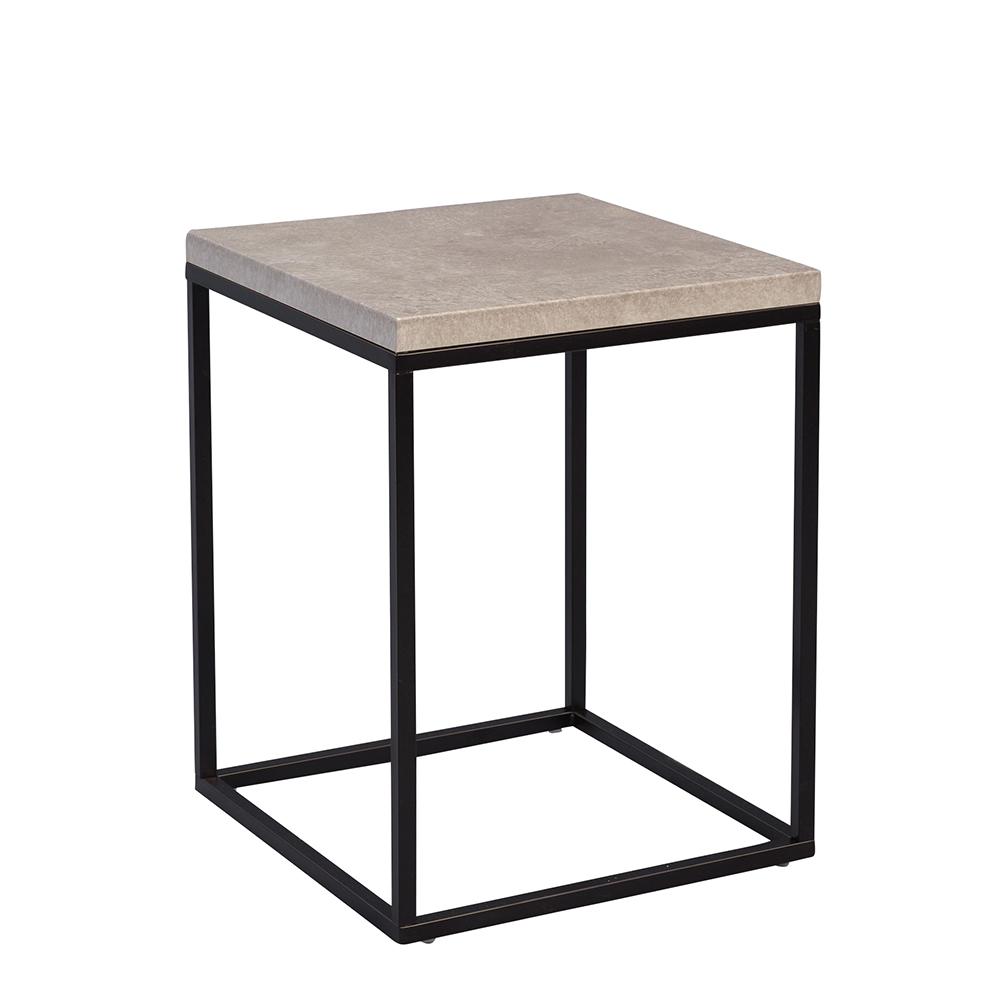 Odkládací stolek Olaf, 40 cm, beton/černá