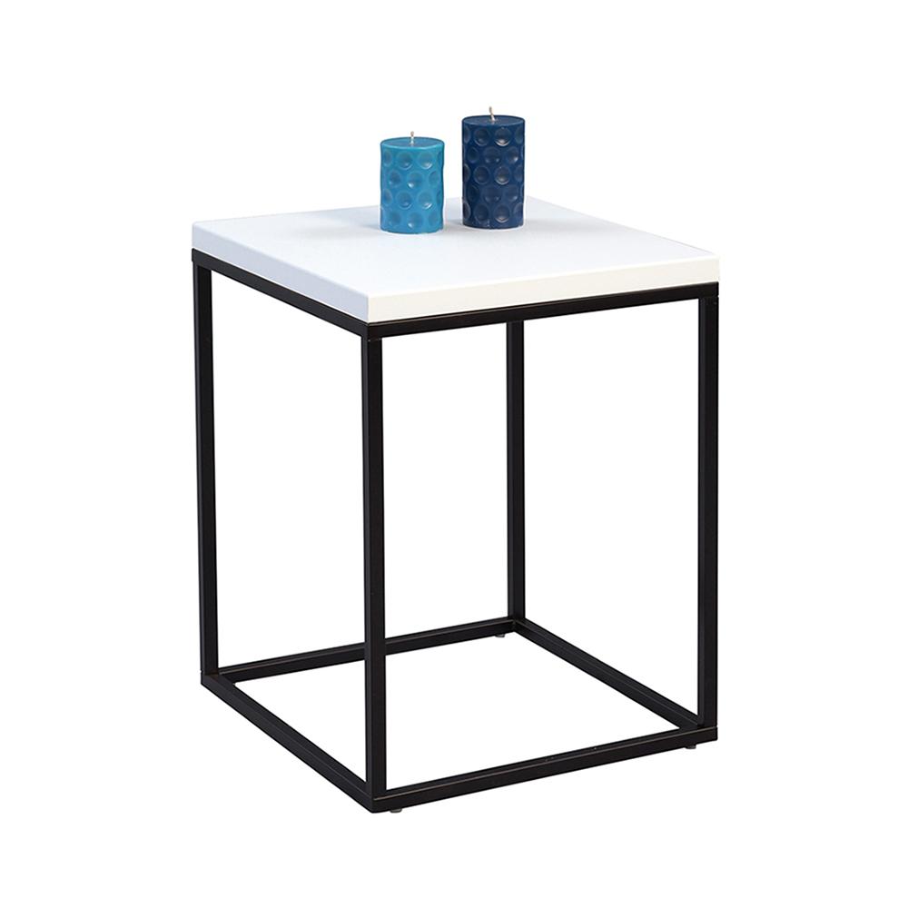 Odkládací stolek Olaf, 40 cm, bílá/černá