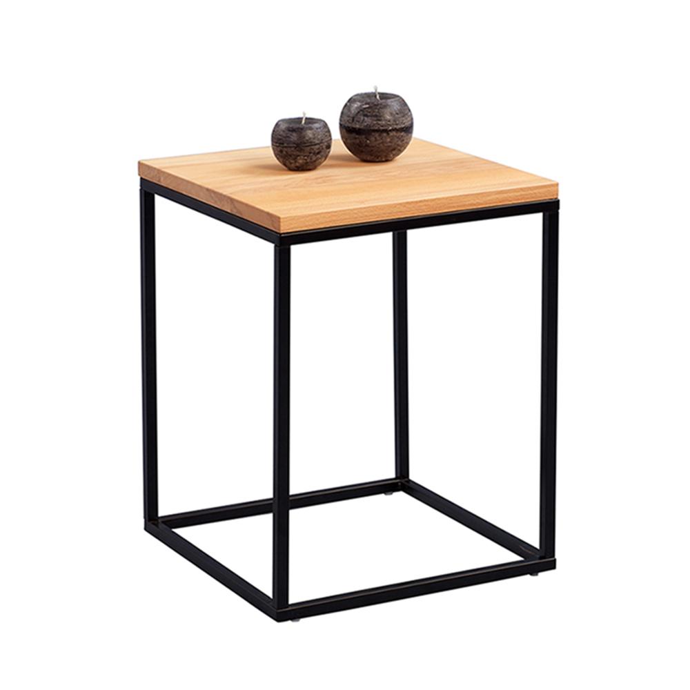 Odkládací stolek Olaf, 40 cm, buk/černá