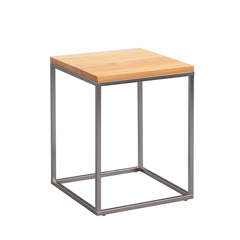 Odkládací stolek Olaf, 40 cm, buk/nerez