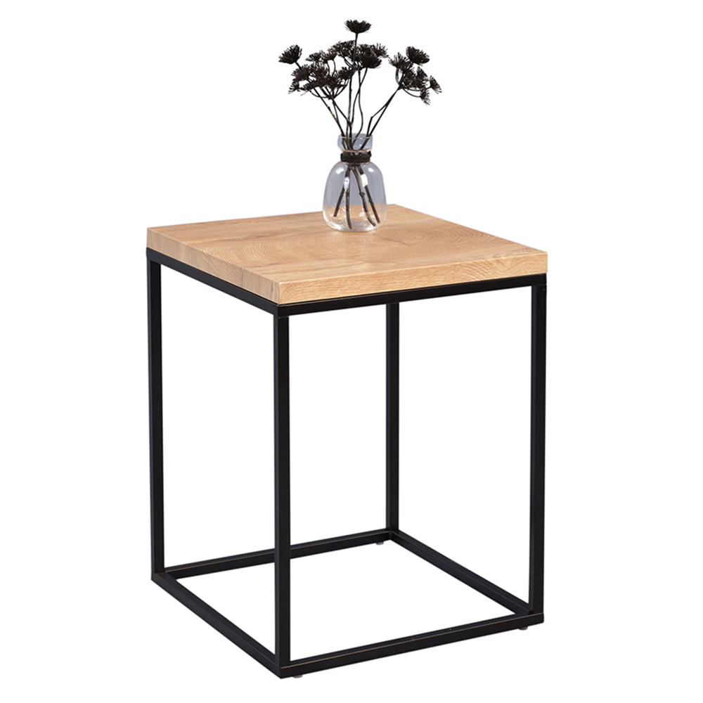 Odkládací stolek Olaf, 40 cm, dub/černá