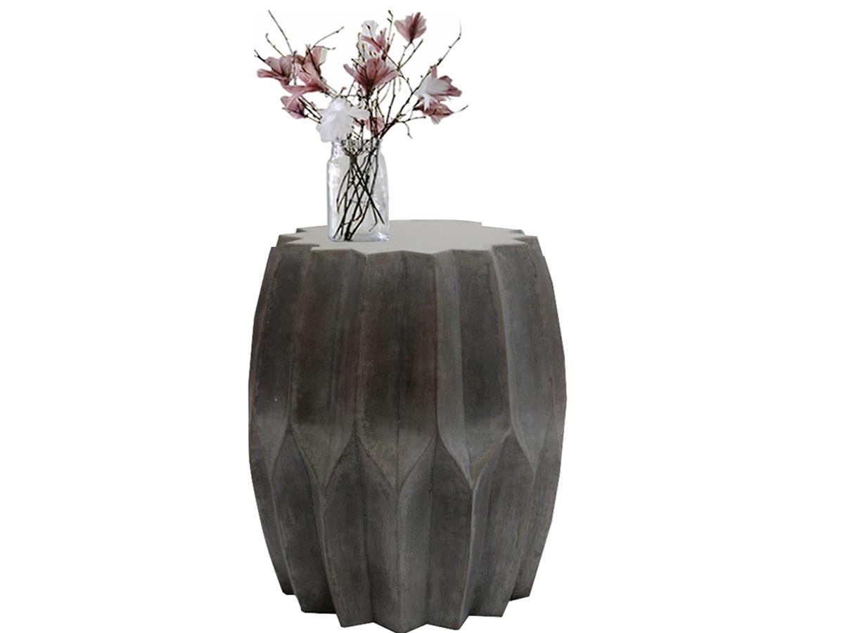 Odkládací stolek Plet, 46 cm, stříbrná