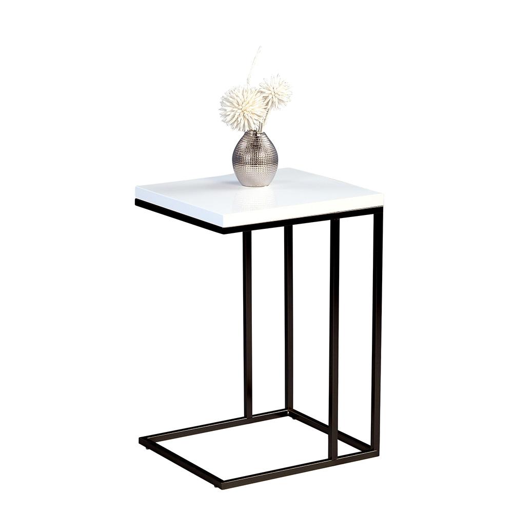Odkládací stolek Ragnar, 43 cm, bílá/černá
