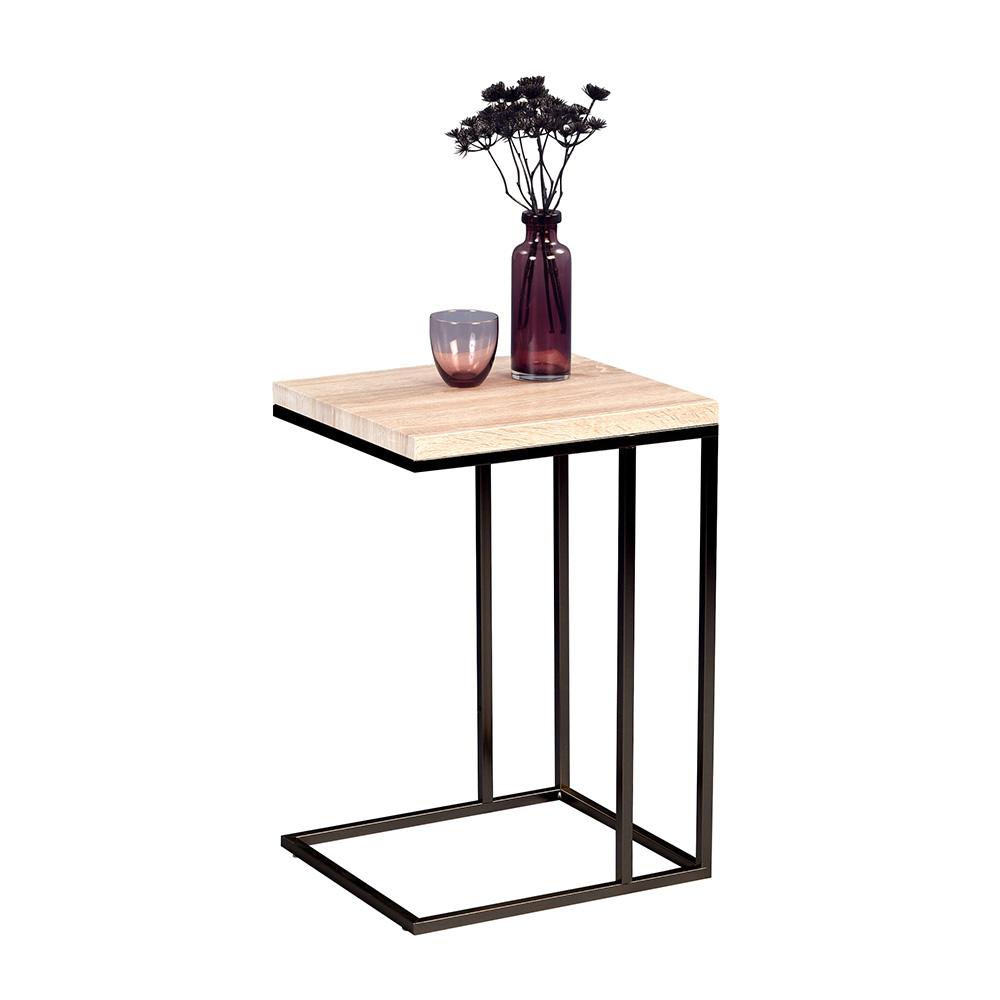 Odkládací stolek Ragnar, 43 cm, Sonoma dub/černá