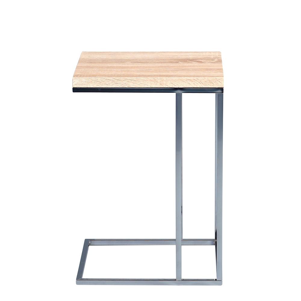 Odkládací stolek Ragnar, 43 cm, Sonoma dub/chrom