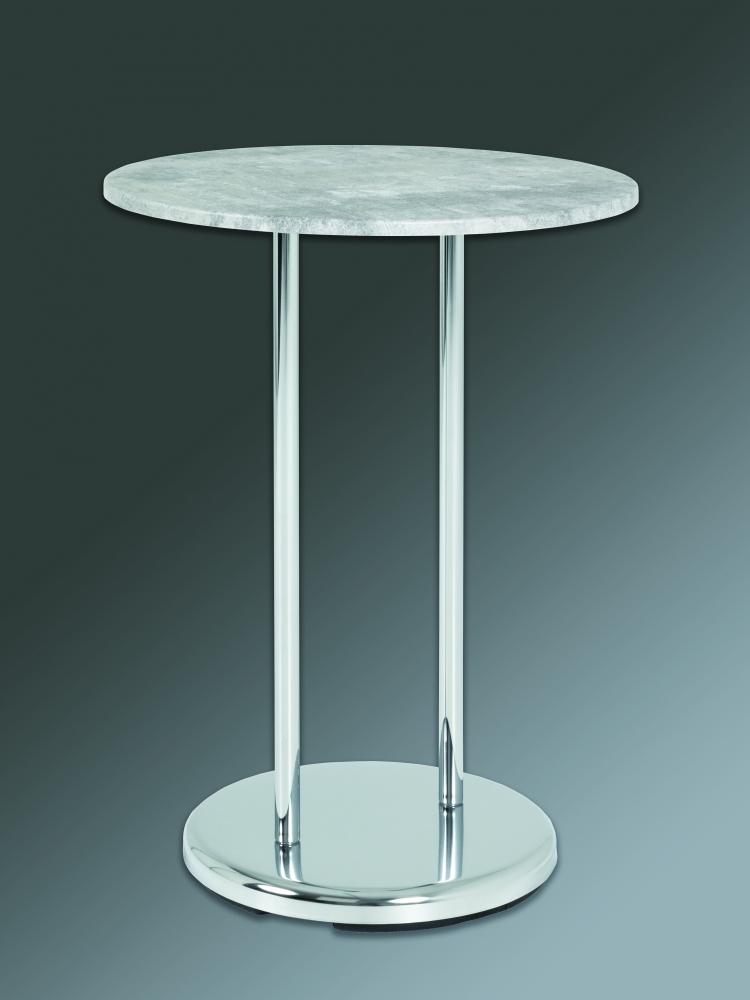 Odkládací stolek Raymond, 55 cm, beton / chrom