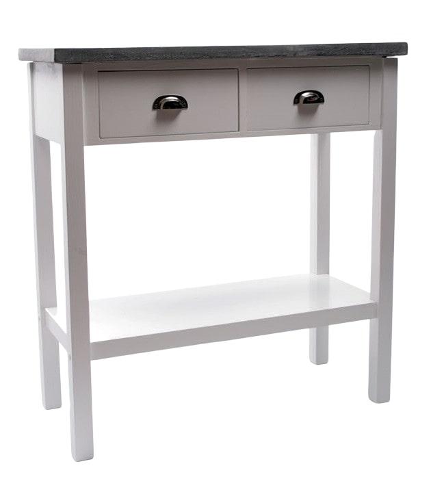 Odkládací stolek s betonovou deskou Hugo, 72,5 cm