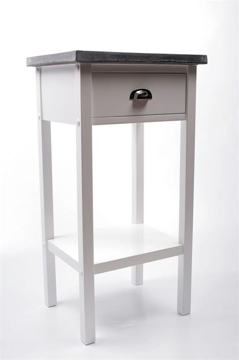 Odkládací stolek s betonovou deskou Hugo, 75 cm