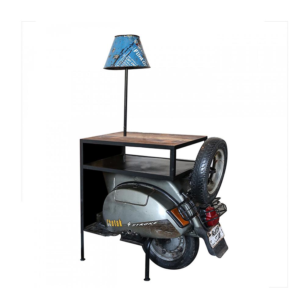 Odkládací stolek s lampičkou Skútr, 155 cm