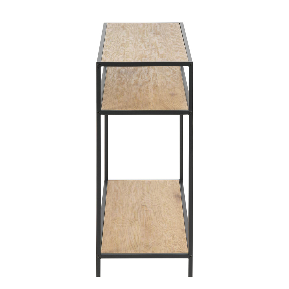 Odkládací stolek s policí Seashell, 100 cm, dub