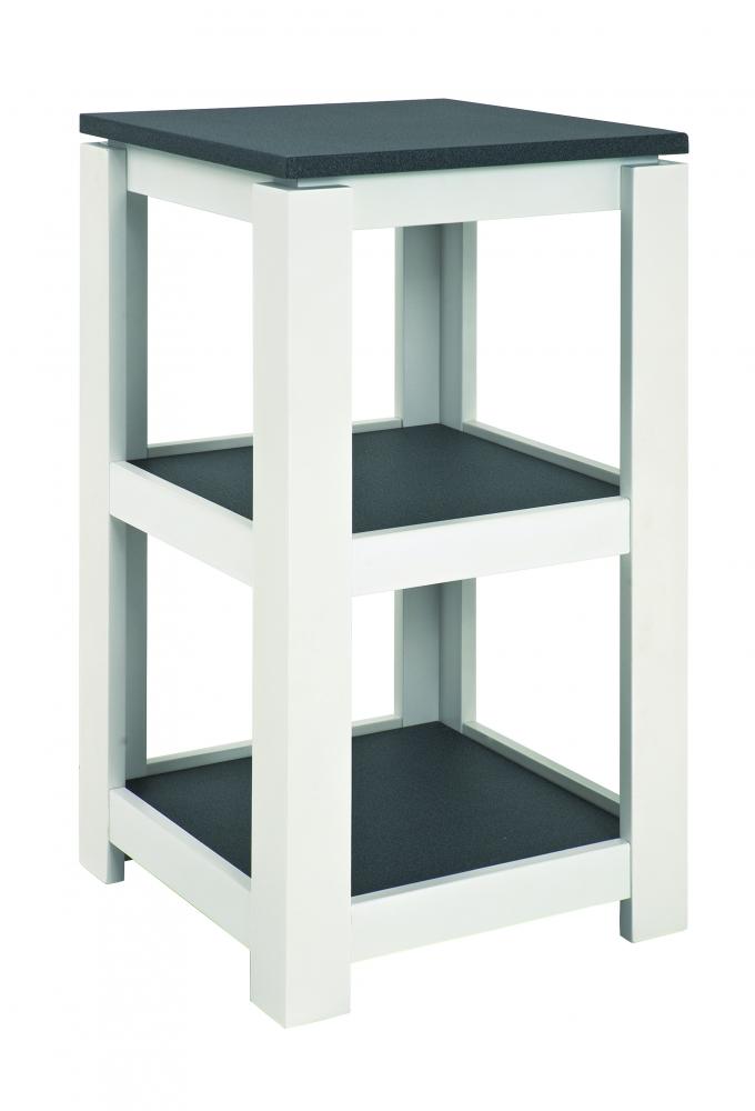 Odkládací stolek se 2 policemi Carlo, 74 cm