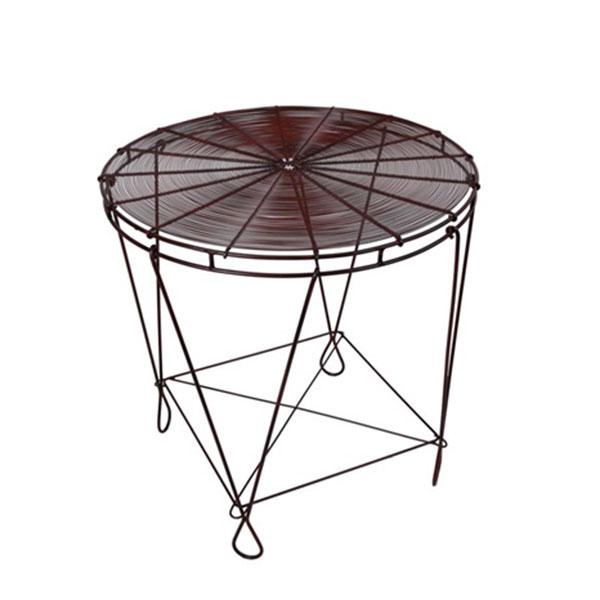 Odkládací stolek se skládací podnoží Bord, 70 cm, hnědá