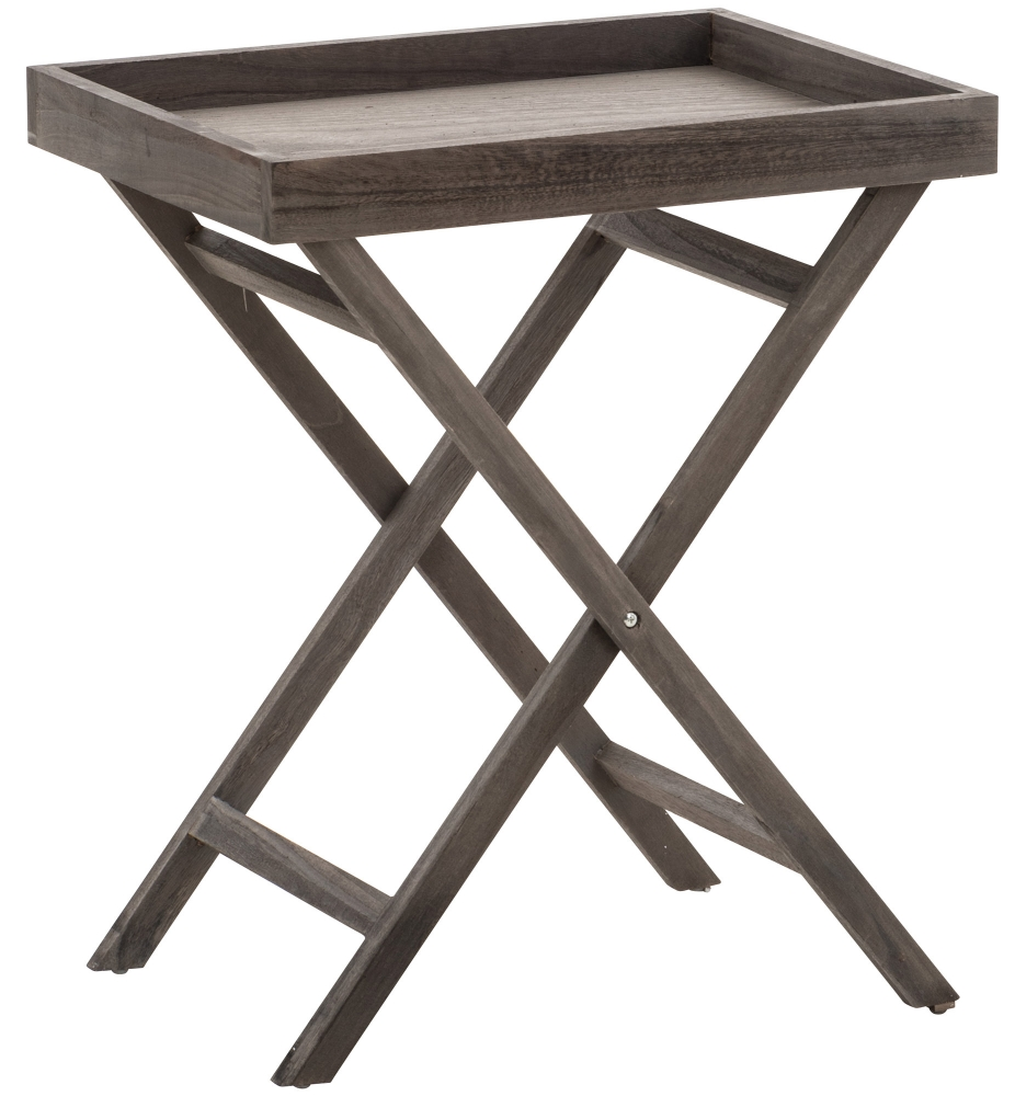 Odkládací stolek Simone, 61 cm, hnědá
