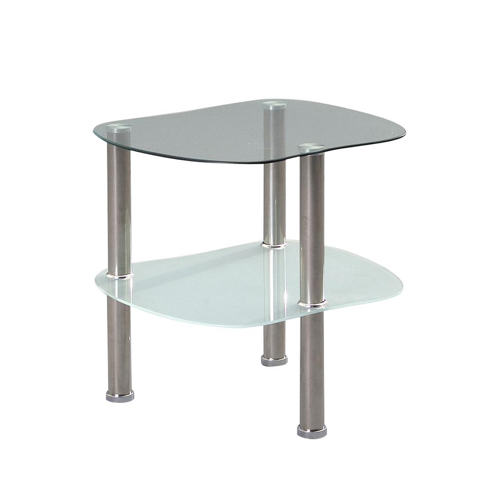 Odkládací stolek skleněný Vallerie, 45 cm