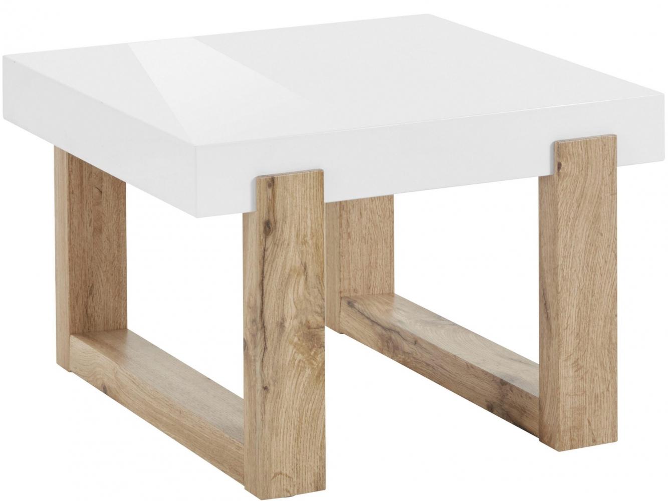 Odkládací stolek Solide, 60 cm, bílá