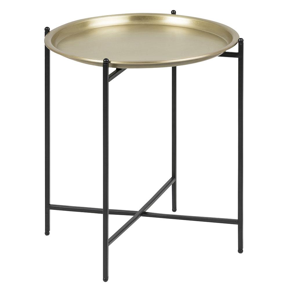 Odkládací stolek Sorby, 40 cm, mosaz
