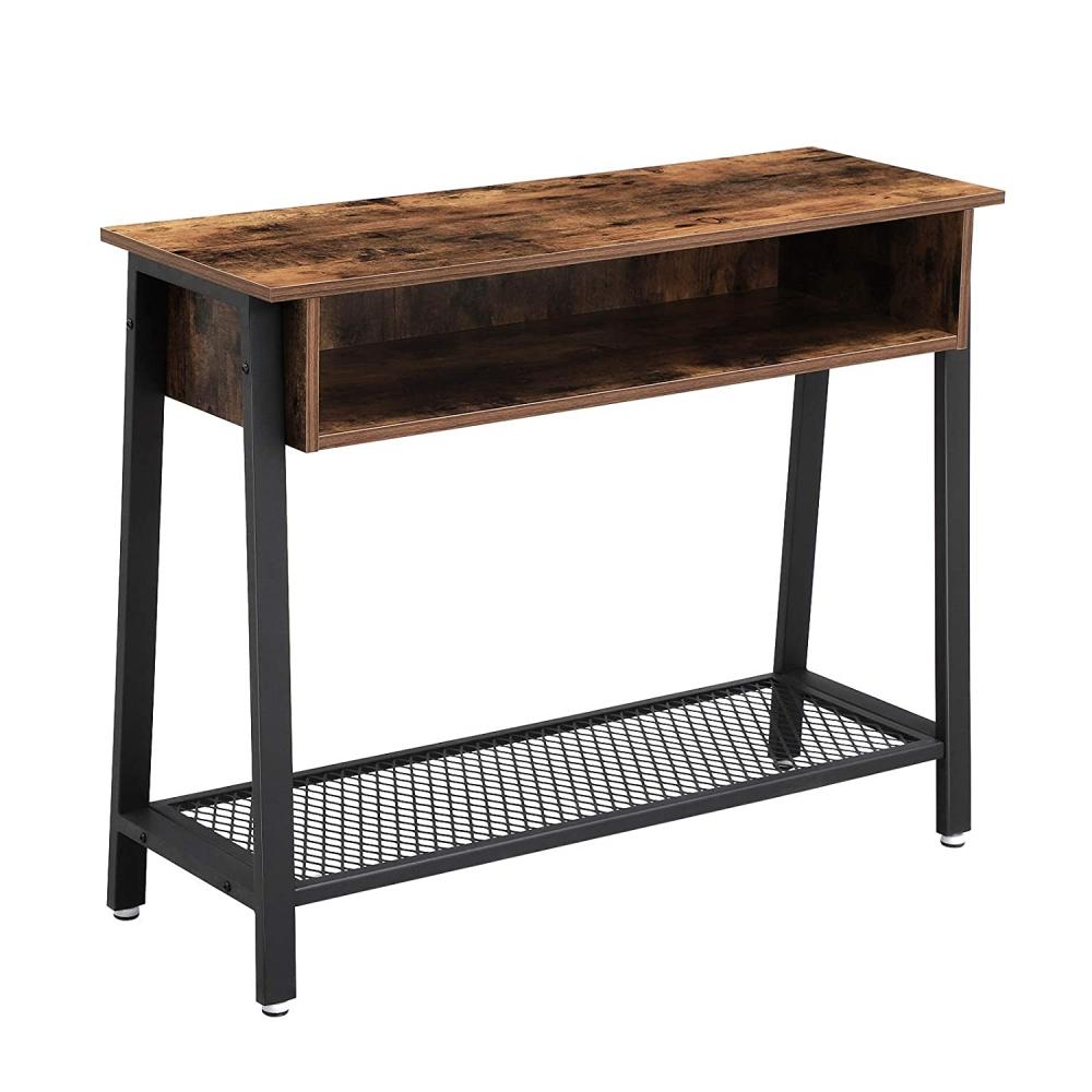 Odkládací stolek Stella IV., 100 cm, hnědá / černá