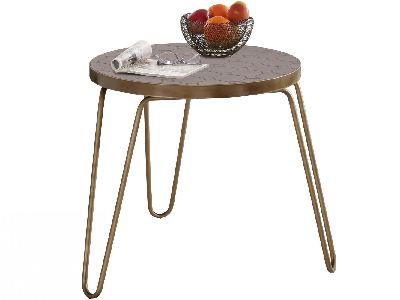Odkládací stolek Stephanie, 50 cm, měděná
