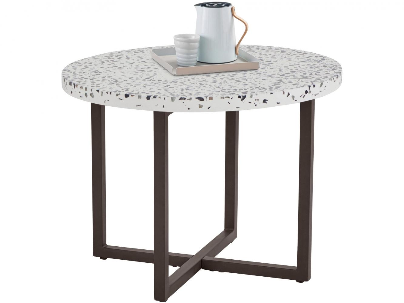 Odkládací stolek Stephanie, 60 cm, bílá