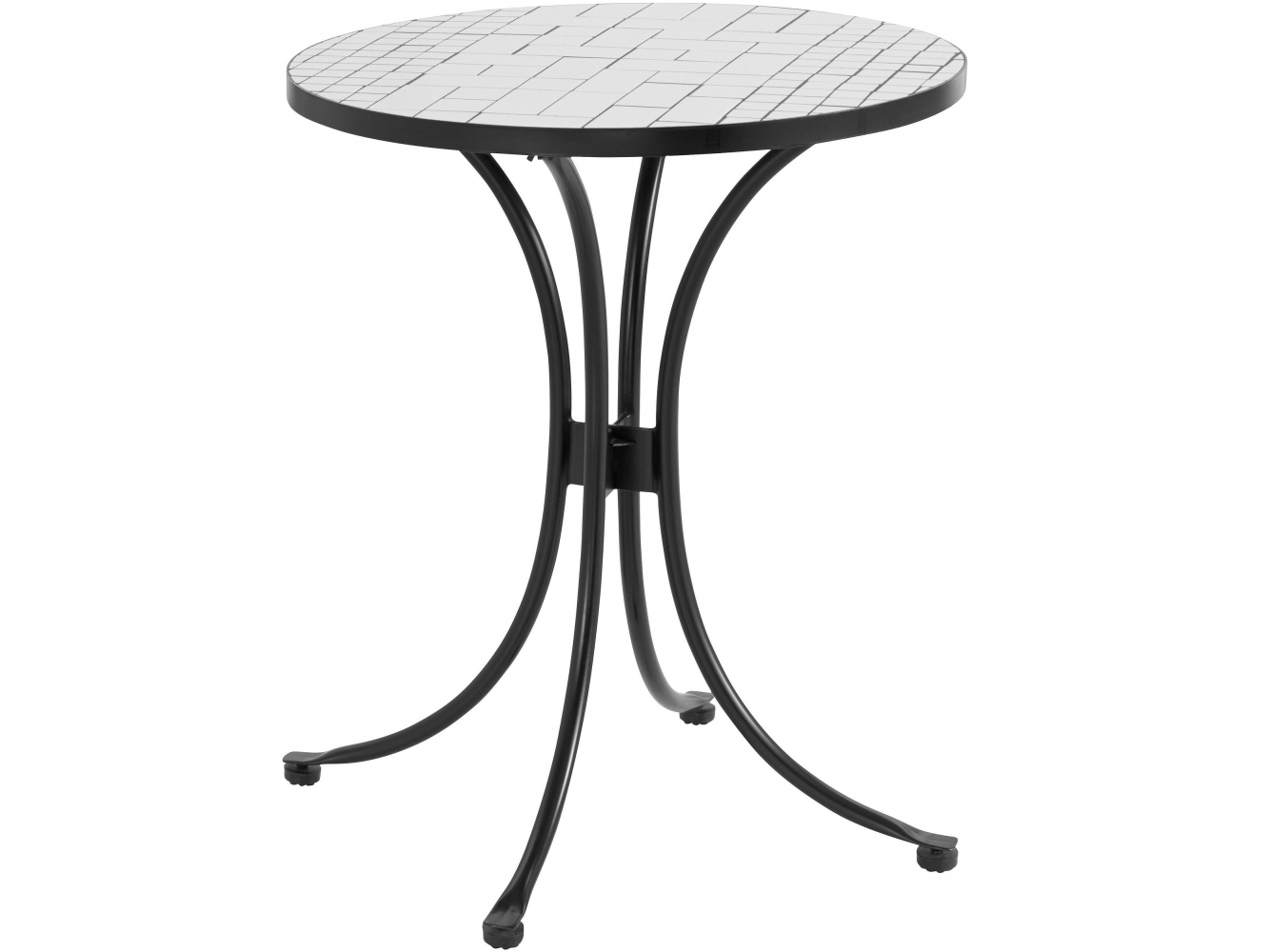 Odkládací stolek Stephanie, 75 cm, bílá