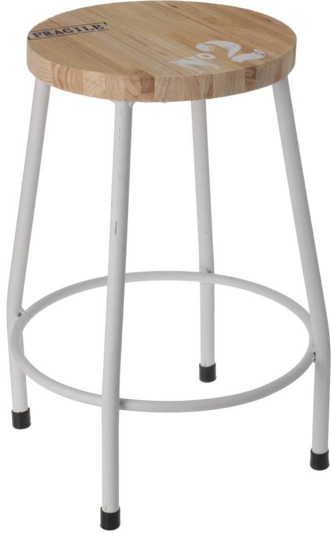 Odkládací stolek / stolička  Mynt, 35 cm, bílá